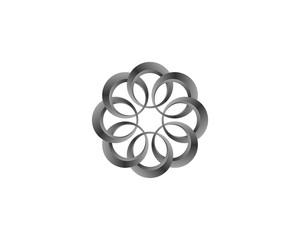 circle grey flower