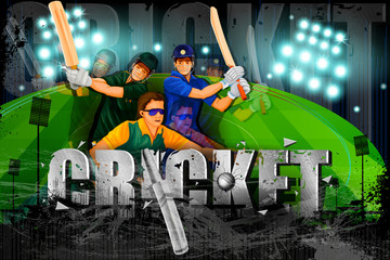 Player in Cricket Championship background
