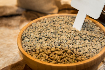 Close up of Brown Coffee Beans in a Bowl