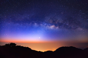 Milky Way Galaxy at Doi Luang Chiang Dao is a 2,225 m. high moun