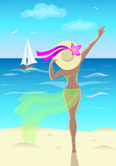 Girl at the sea.