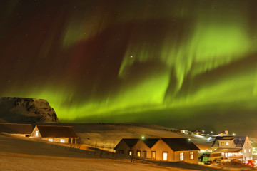 Aurore Boréale dans les cieux islandais