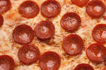 Pepperoci Pizza close up for backgounds