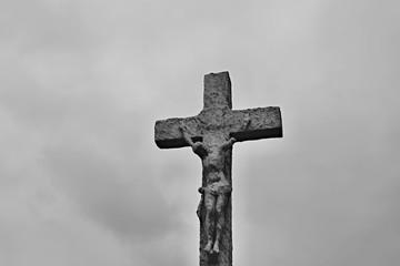 old statue of Jesus Christ