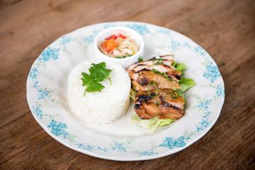 Thai grill chciken with jasmine rice