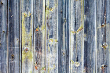 Old wooden wall as a natural texture or background. Copy space. Old wooden fence. Country style.
