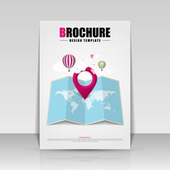 Brochure cover design. Flyer, poster, booklet template. Vector