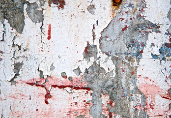 Spatter texture grunge painted wall background or Abstract splash on cracked plaster cement. Vintage and retro for poster background. High quality. Close up