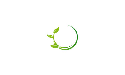 green leaf business logo