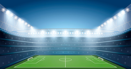 Soccer Stadium with spot lights.