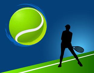 sport background  tennis. vector