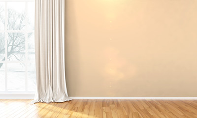 Empty bright interior . 3D render