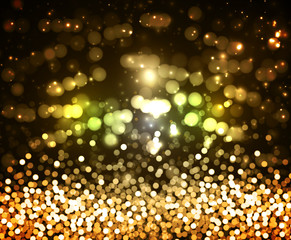 background of the golden glitter and glare