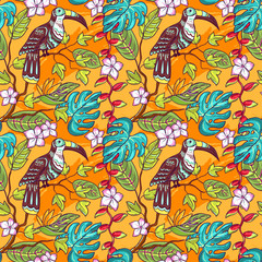 tropical vector pattern