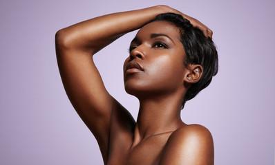 nude black woman's portrait