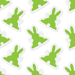 background seamless illustration - Easter bunnies