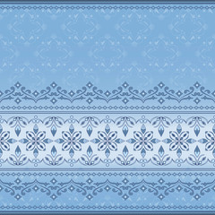 Decorative seamless border on light blue background.