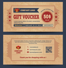 Retro Gift Voucher Set