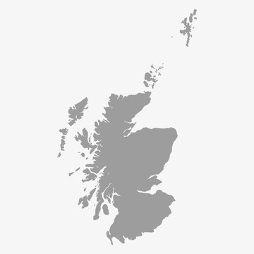 Map of Scotland in gray on a white background