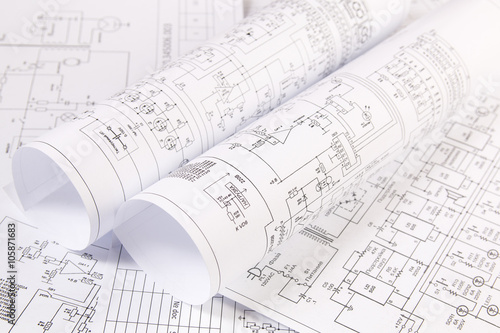 u0026quot electrical engineering drawings u0026quot  stock photo and royalty