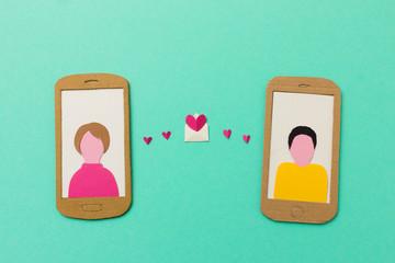 Online Dating Konzept