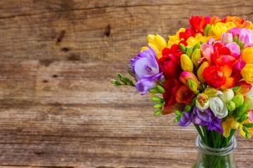 Fresh freesia flowers