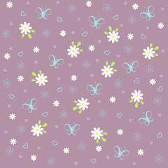 vector floral pattern on violet background