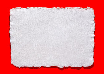 handmade paper on red