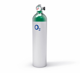3D Isolated Oxygen Tank