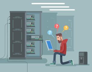 Programmer. Vector flat illustration