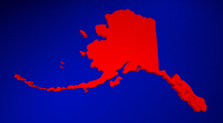 Alaska AK United States of America 3d Animated State Map