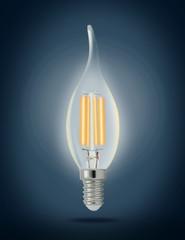 LED filament light bulb (E14)
