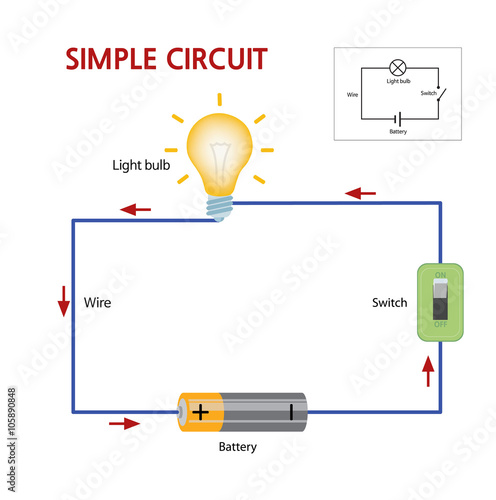 u0026quot a simple circuit that consists of a battery  switch  and