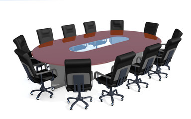 conference table  isolated on white background