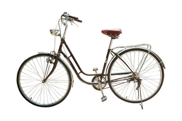 Retro styled bicycle isolated on a white background
