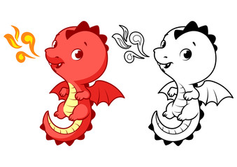 Cute little red dragon.