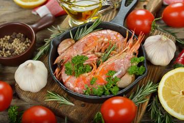 Shrimp with rosemary and garlic