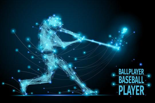 baseball ballplayer polygonal