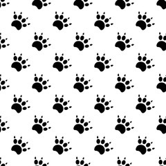 Traces of cat Textile Pattern. Vector seamless.