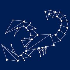 Scorpio zodiac sign.