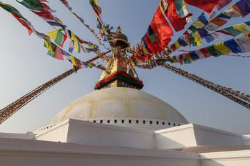 Detail of the Boudhanath Stupa in Kathmandu, Nepal