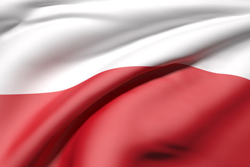 3d rendering of a Poland flag