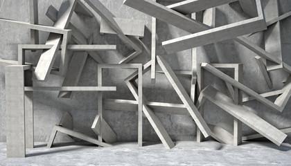Beton 3d geometryczna ściana