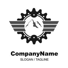 bike shop logo icon Vector
