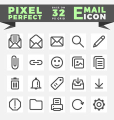 E-Mail icons set for mobile, web interface. Outline e-mail icons. vector illustration