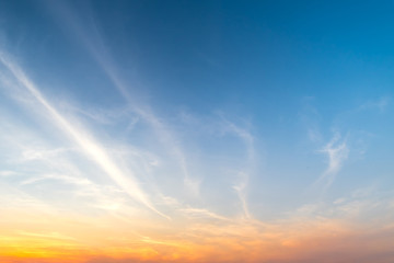 Foto op Aluminium Ochtendgloren Dramatic sunset and sunrise sky.