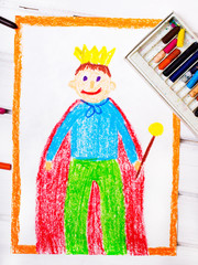 colorful drawing: the king in a golden crown