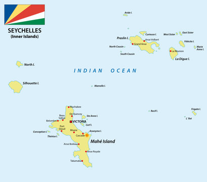 ssychelles map with flag
