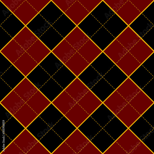 Royal Red Black Diamond Background Vector Illustration
