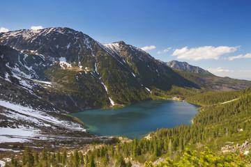 Morskie Oko lake in the Tatra Mountains, Poland